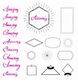 Amazing Cards labels stickers hand lettering vector image