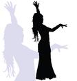 flamenco dance woman silhouette vector image