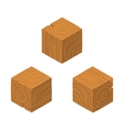 Isometric game brick cubes set vector image