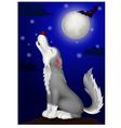 Wolf cartoon howling vector image