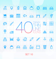 40 Trendy Thin Icons for web and mobile Set 16 vector image