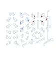 Isometric Plumbing Elements vector image