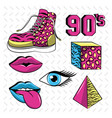 90s forever icons vector image