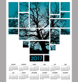A 2017 tree and nature calendar vector image vector image