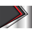 abstract red black arrow metal modern vector image