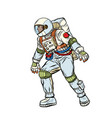 astronaut step forward space exploration vector image