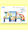 automated marketing website landing page vector image vector image