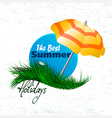banner on grass vector image