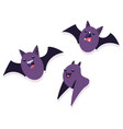 bat cartoon character set vector image vector image