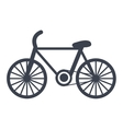 Bike isolated flat icon vector image vector image