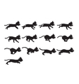 Black Cat Running Sprite vector image vector image