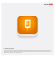 blood bag icons orange abstract web button vector image