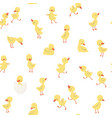 childish pattern with little ducklings vector image