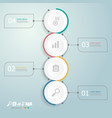 circles timeline infographics 4 steps for vector image
