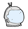 comic cartoon astronaut helmet vector image vector image