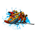 concept skiing winter sport flat style cable car vector image