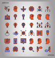 creative and design color line icons perfect pixel vector image vector image