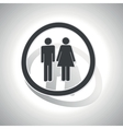 Curved man woman sign icon vector image vector image