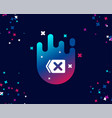 delete simple icon remove sign vector image vector image