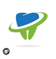 dental care logo icon or tooth care clinic vector image vector image