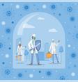 doctors fight coronovirus vector image vector image
