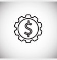 dollar gear thin line on white background vector image