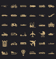 driving icons set simple style vector image vector image