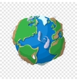 Earth in cartoon style vector image vector image