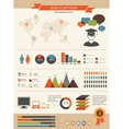 Education infographics set retro style design vector image