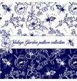 elegant vintage outline herbal pattern vector image vector image