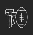 flag football chalk white icon on dark background vector image