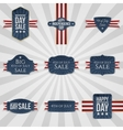 Fourth of July national Badges Set vector image vector image