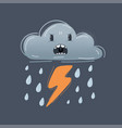 funny icon angry dark raining striking vector image vector image