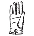glove are made leather vintage engraving vector image vector image