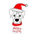 hand drawn monochrome with a cute dog celebrating vector image vector image