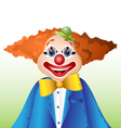 Happy cartoon clown vector image vector image