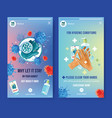 ig stories ad with watercolor painting hands vector image vector image