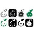 incision of the apple vector image vector image