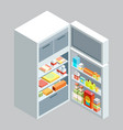 isometric fridgeflat vector image vector image