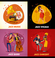 jazz music design concept vector image vector image