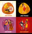 jazz music design concept vector image