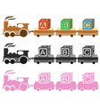 kids toy train vector image