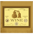 label for wine with winery vector image