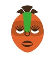 mask african culture icon vector image vector image