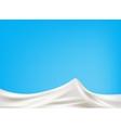 Milk wave background vector image vector image