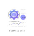 neon business data line icon vector image vector image