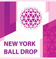 new york ball drop concept vector image vector image