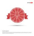 pen nib icon - red ribbon banner vector image vector image