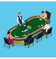 People playing poker in the casino gambling vector image vector image