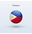 Philippines round flag vector image